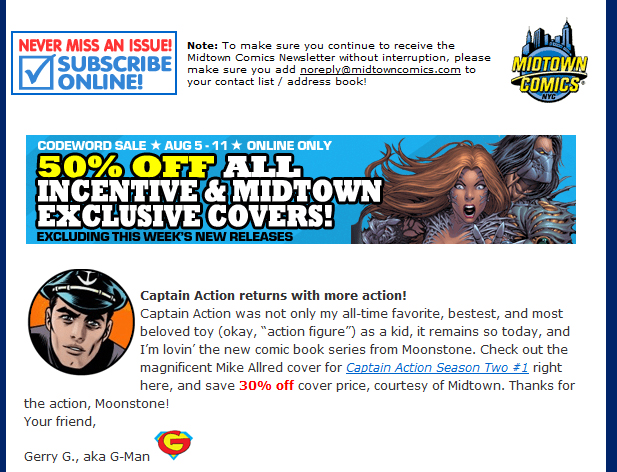 Midtown Comics Special! for CA #1