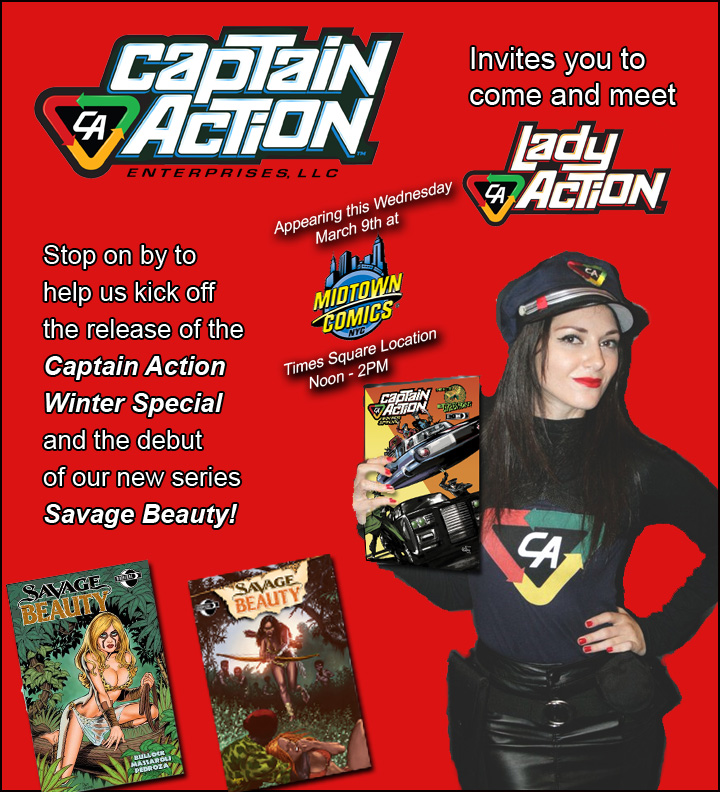 Lady Action, Savage Beauty and the CA Winter Special live at MIDTOWN COMICS!