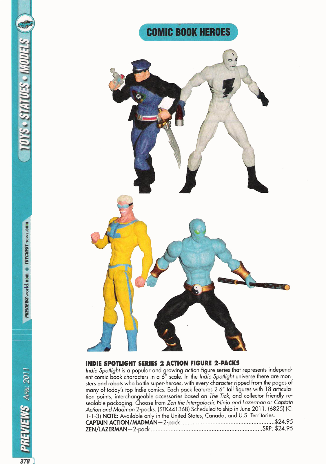 APRIL PREVIEWS! Captain action King Size Special 1, Savage Beauty 3 and Captain Action 6inch Action Figure!