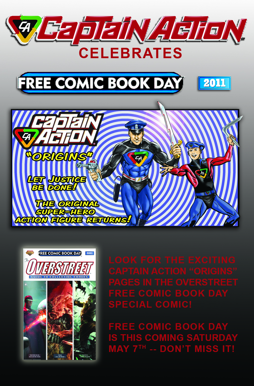 Captain Action Celebrates Free Comic Book Day 5/07/11